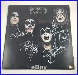 KISS Signed Autographed Gene Simmons Paul Stanley Ace Criss Album Vinyl COA