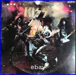 KISS Signed Vinyl Peter Criss Autographed Album (Frehley Simmons Stanley) Proof