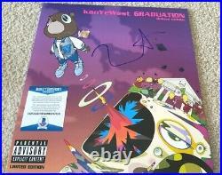 Kanye West Signed Graudation Vinyl Album Yeezy Mbdtf Jesus Is King Pablo Bas