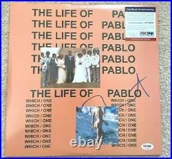 Kanye West Signed The Life Of Pablo Vinyl Album Yeezy Mbdtf Jesus Is King Psa