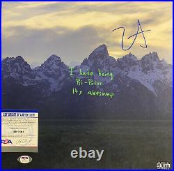 Kanye West Signed Vinyl PSA/DNA COA Ye Kids See Ghosts Album Record Yeezy