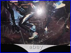 Kiss Full Autographed Album LP Cover ALIVE! Vinyl COA Guarantee 100%