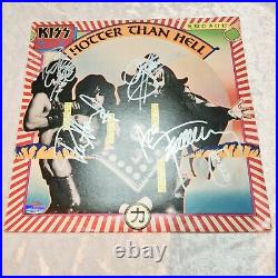 Kiss Hotter Then Hell Album Cover Signed Lp/Vinyl Certification Supplied HOT