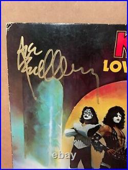 Kiss Love Gun Lp Vinyl Record Sleeve Signed By All 4 Vintage Album