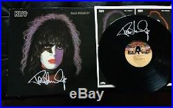 Kiss Paul Stanley 1978 Signed Solo Album And Signed Vinyl Aucoin