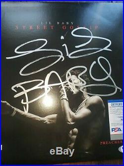 LIL BABY SIGNED AUTOGRAPH STREET GOSSIP ALBUM VINYL LP (GUNNA, DRAKE) with COA PSA