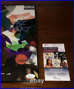 LIL Uzi Vert Signed Vs The World Vinyl Album Size Photo Rapper Autograph Jsa Coa