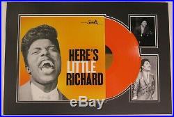LITTLE RICHARD Signed Autograph Here's Little. Photo Album LP Vinyl Display