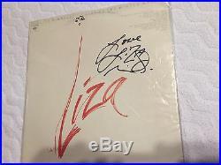 LIZA MINNELLI SIGNED Live At The Winter Garden LP ALBUM VINYL Autograph
