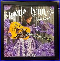 Loretta Lynnfull Circlevinyl Albumautographed With Gown Material