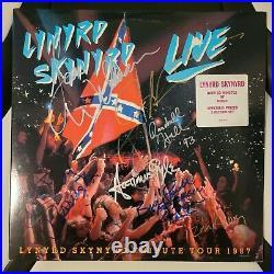 LYNYRD SKYNYRD signed vinyl album LIVE by 7 Artists