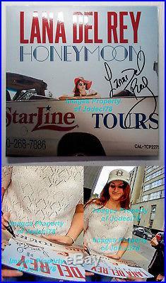 Lana Del Rey Signed Honeymoon Album Vinyl 2-LP EXACT Proof