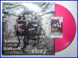 Lana Del Rey Signed with Inscription Norman Rockwell Album Pink UO Vinyl PROOF JSA