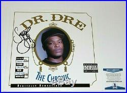 Legend Snoop Dogg Signed'the Chronic' Album Vinyl Record Lp Beckett Coa Dr. Dre
