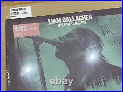 Liam Gallagher SIGNED MTV Unplugged Hull LP Vinyl Album Oasis Amazon Sealed