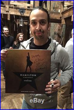 Lin-Manuel Miranda SIGNED Hamilton vinyl LP record AUTOGRAPHED Bway cast album