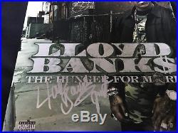 Lloyd Banks Signed Auto Hunger For More Vinyl LP Album JSA COA G UNIT 50 Cent