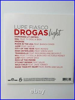 Lupe Fiasco Signed Drogas Light Vinyl Lp Album COA GUARANTEE Rap Legend
