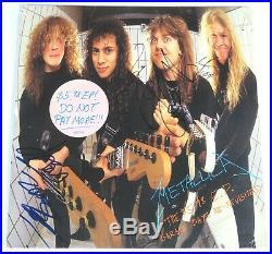 METALLICA Signed Autograph Garage Days Album Vinyl LP by 4 James Hetfield, +