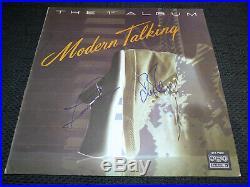 MODERN TALKING signed Autogramm THE 1ST ALBUM Vinyl Schallplatte InPerson LOOK