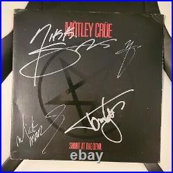 MOTLEY CRUE signed vinyl album SHOUT AT THE DEVIL full band