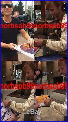 MUSE SIGNED AUTOGRAPH SHOWBIZ VINYL RECORD ALBUM MATT BELLAMY +2 withVIDEO PROOF