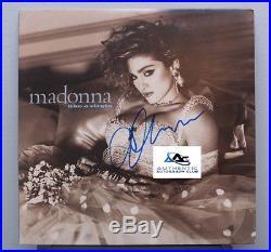 Madonna Autograph Signed Like A Virgin Album Vinyl Lp Coa