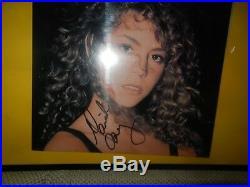 Mariah Carey Autographed Signed 1990 Debut Album Self Titled Framed Vinyl LP