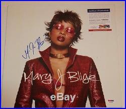 Mary J Blige Signed Autographed Album Vinyl Cover No More Drama Psa/dna