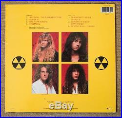 Megadeth Rust In Peace UK first press vinyl album SIGNED