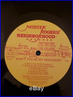 Mister Fred Rogers signed Won't You Be My Neighbor lp Record Vinyl album Jsa LOA