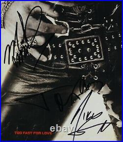 Motley Crue JSA Signed Autograph Too Fast For Love Album Vinyl Fully Signed