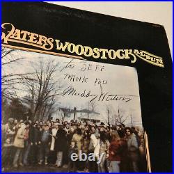 Muddy Waters SIGNED Vinyl LP Woodstock Album AUTOGRAPHED Blues