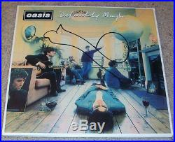 NOEL GALLAGHER SIGNED AUTOGRAPH OASIS DEFINITELY MAYBE VINYL ALBUM withVIDEO PROOF