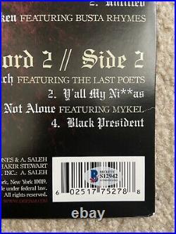 Nas Nasir Jones Signed Untitled Vinyl Album Record Rapper Illmatic Bas