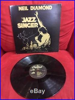 Neil Diamond Hand Signed The jazz Singer Vinyl LP Record Album Capitol records