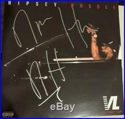 Nipsey Hussle Autographed VL Album With LP X2 Vinyl Record