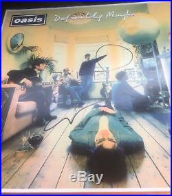 Noel Gallagher SIGNED Definetely Maybe LP Vinyl Album Oasis PROOF