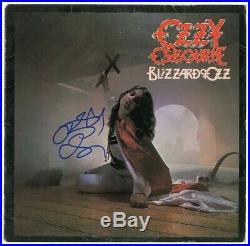 Ozzy Osbourne Blizzard of Ozz Vinyl Record Album signed Beckett BAS coa -sabbath