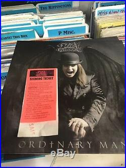 Ozzy Osbourne Signed Vinyl Album Ordinary Man