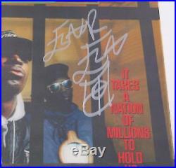 PUBLIC ENEMY Signed Autograph It Takes A Nation Of Millions. Album Vinyl LP