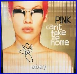 P! Nk (pink) signed Can't Take Me Home 12 lp album COLORED VINYL