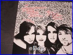 Paramore SIGNED New Riot Record Album Vinyl Hayley Williams Zac Farro JSA COA
