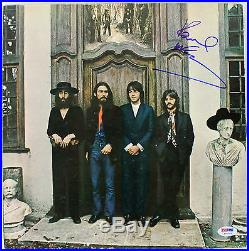 Paul McCartney The Beatles Hey Jude Signed Album Cover With Vinyl PSA/DNA #Y06753