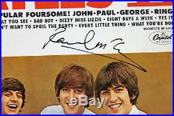 Paul McCartney The Beatles Signed Album Cover With Vinyl PSA/DNA #AB04451