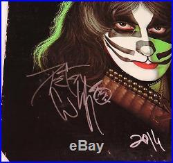 Peter Criss KISS Signed Autograph KISS Peter Criss S/T Album Vinyl LP Solo