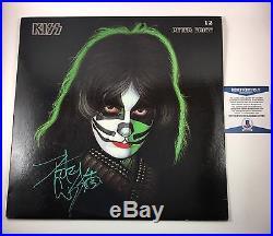 Peter Criss KISS Signed Autographed Solo Vinyl Album Beckett COA