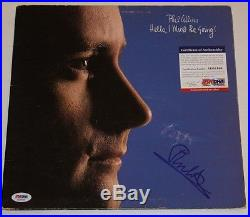 Phil Collins Signed Autographed Album Vinyl Hello I Must Be Going Psa/dna