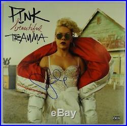 Pink P! Nk Signed Autograph JSA Album Vinyl Record Beautiful Tramma