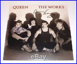 QUEEN BRIAN MAY ROGER TAYLOR SIGNED'THE WORKS' VINYL RECORD ALBUM WithCOA PROOF